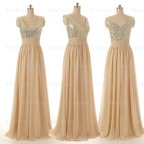 sequin bridesmaid dresses, chiffon bridesmaid dresses, long ...