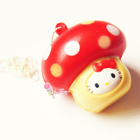 Hello Kitty in a Mushroom Squishy (with Tags) ? Uber Tiny ? Online Store Powered by Storenvy