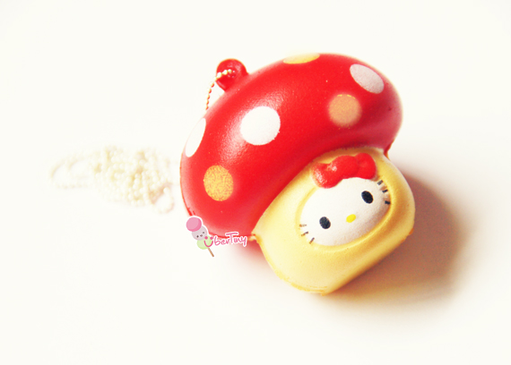 Squishy With Tag : Hello Kitty in a Mushroom Squishy (with Tags) ? Uber Tiny ? Online Store Powered by Storenvy
