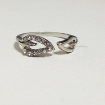 Open leaf ring - WS