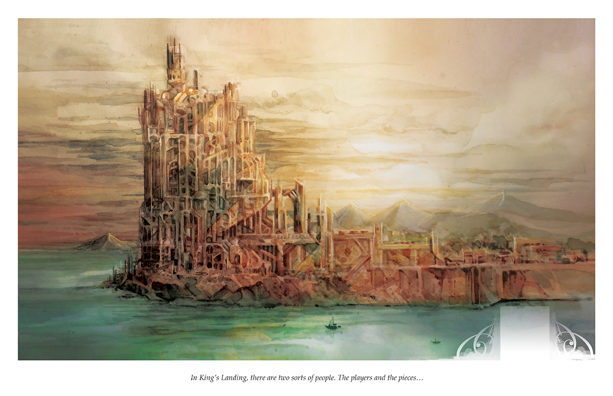 Game with watercolor - King S Landing Game Of Thrones Watercolor