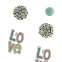 For the Love of Mint Stud Earrings