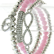 Pretty in Pink Infinity Stack Bracelets