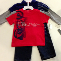 DKNY Infant 3pc Gear Set 18m - Medivel Blue