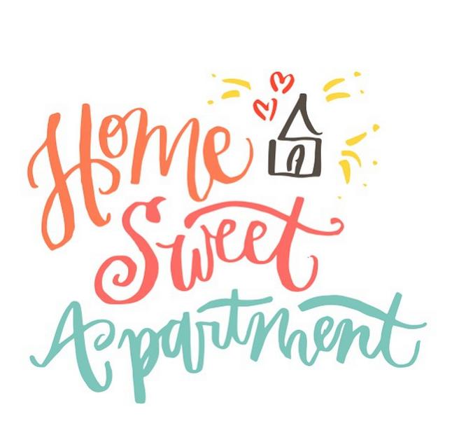 Home Sweet Apartment 183 V V Lettering Amp Design Co
