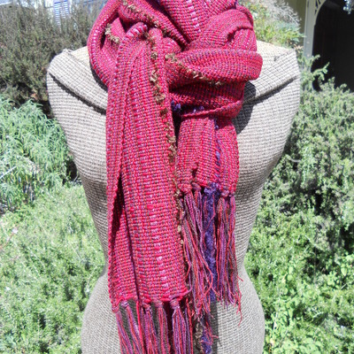 Marsala wine - red wool shawl