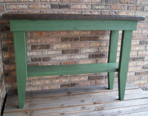 Sofa Table Or Hall Table Rustic And Distressed Green