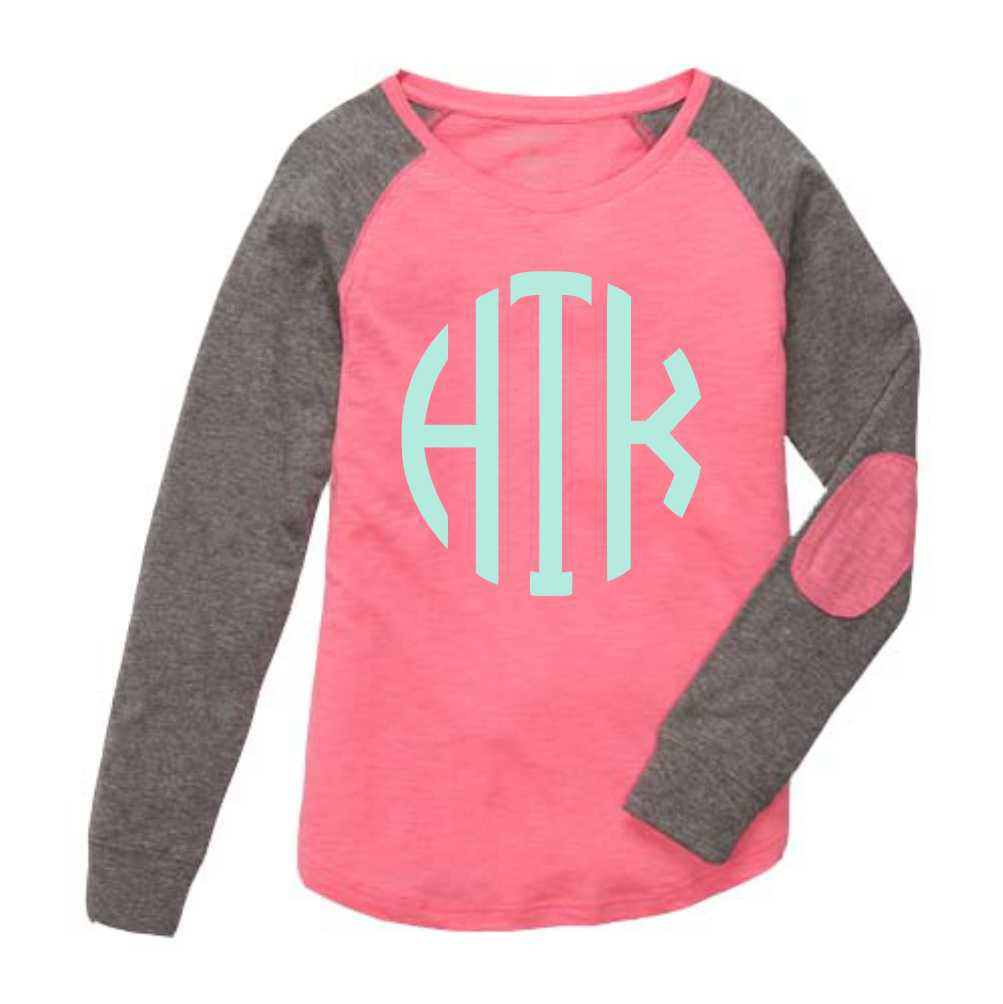 Monogrammed Preppy Patch Sport Many Colors Youth Womens