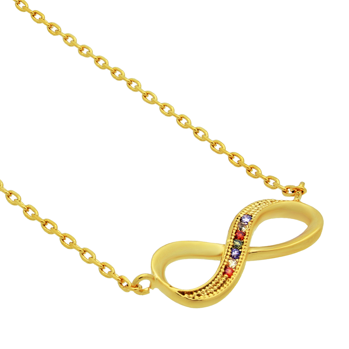tzaro jewelry 14kt gold filled infinity necklace gold
