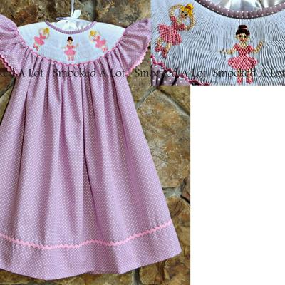 Smocked ballerina ballet bishop dress