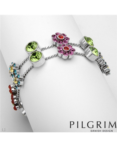 pilgrim crystal flower bracelet contemporary designer. Black Bedroom Furniture Sets. Home Design Ideas