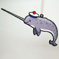 Nautical Narwhal Necklace