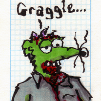 Sketch Card: Jawless Zombie