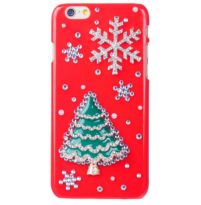 iphone 6 plus 6 5s 5c red hot or clear sparkling christmas