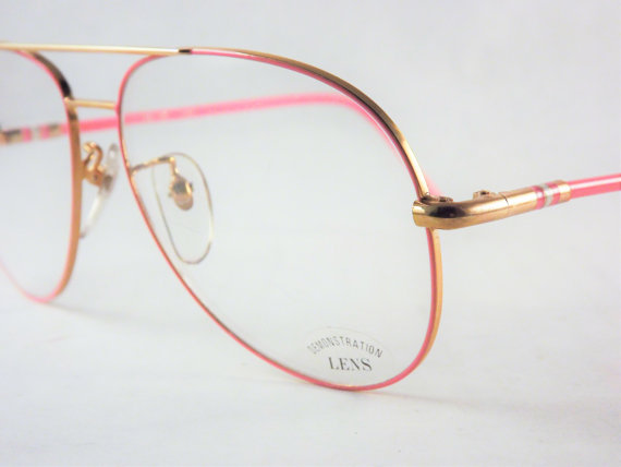 Womens Bubblegum Pink Aviator Eyeglasses, Big Pink and ...