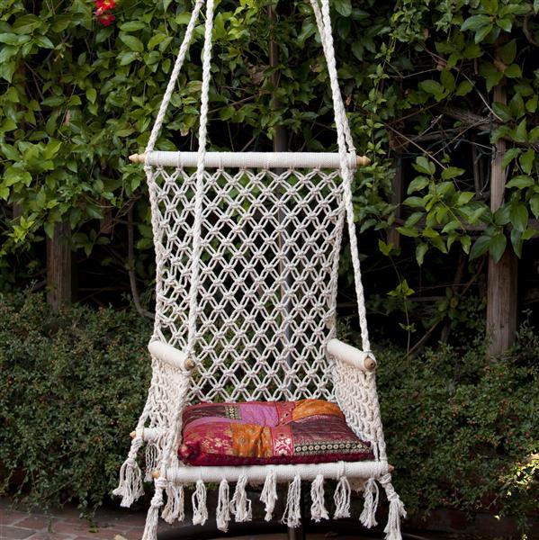 Кресло гамак из макраме своими руками
