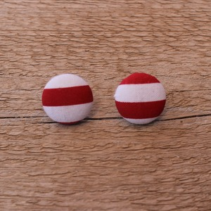 Waldo Button Earrings