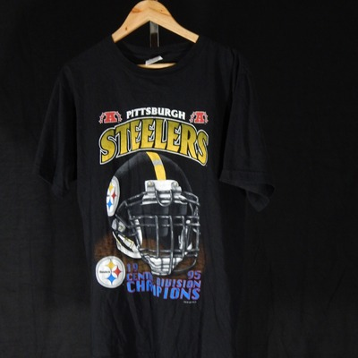 1995 pittsburgh steelers central division champions t-shirt size medium