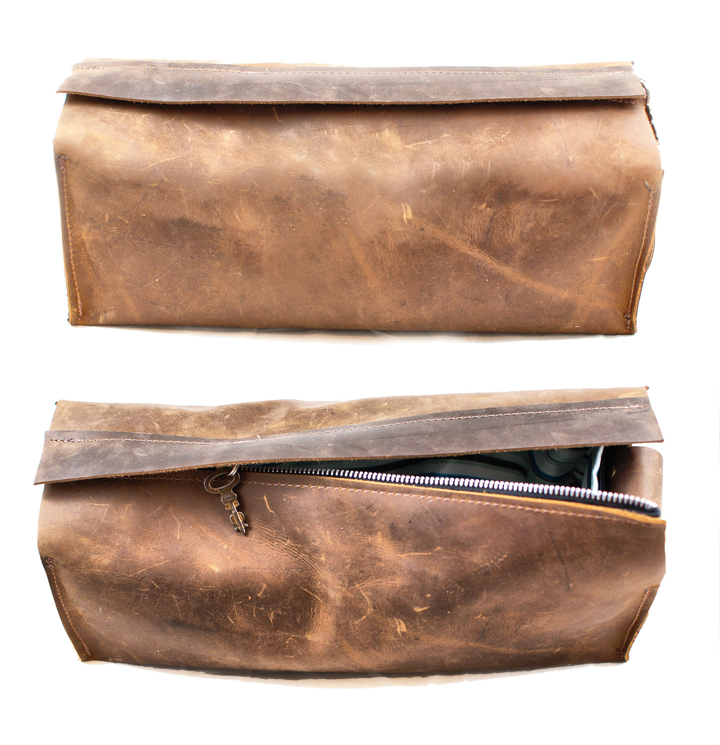 divina denuevo | men's grooming leather toiletry bag