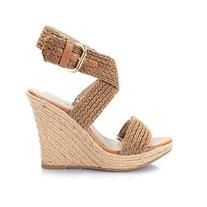 Tan Knit Wedge
