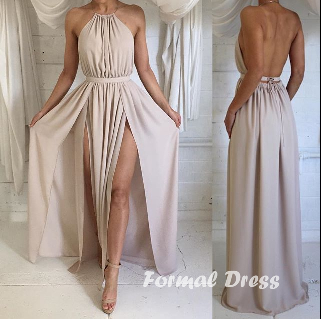 Formal Dress | Simple A-Line Backless Prom Dress, Formal Dress ...
