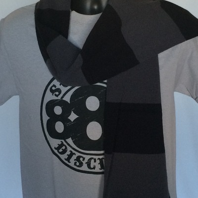 Black & gray scarves