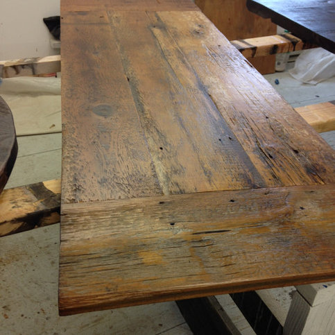 Fresh restorations farm table tops reclaimed wood table for Reclaimed wood online