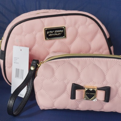 Betsey Johnson Quilted Be Mine Large Loaf and Boxed Loaf Blush ...