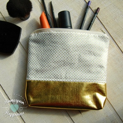 Mini gold dot - gold bottom bag