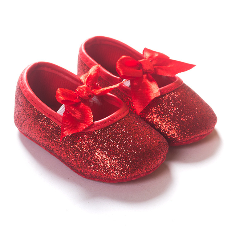 Red Sparkly Glitter Baby Shoes Kids Boutique