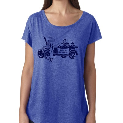 "Feminist tshirt: ""equality is not a feeling"" suffragette shirt (vintage style, vintage blue) by fourth wave feminist apparel (great gift!)"