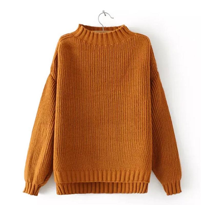 Oversized Turtleneck Ribbed Sweater in Burnt Orange · White Finch ...