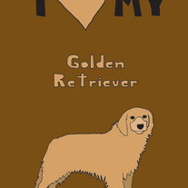 Golden Retriever, 5x7 print