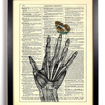 Image of A Butterfly Landed On My Finger, Vintage Dictionary, 8 x 10