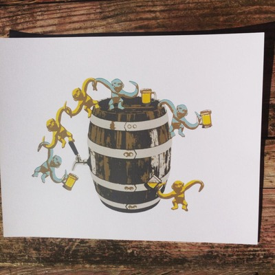 "2015 bojo ""beer barrel of monkeys"""