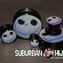 Jack Skellington Double Flat Flare Screw Fit Plug