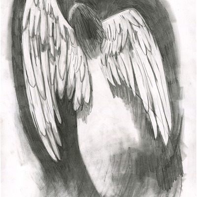 """angel,"" original art"