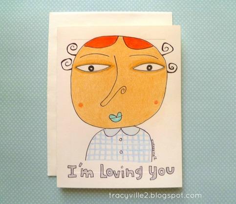 I'm Loving You - Card