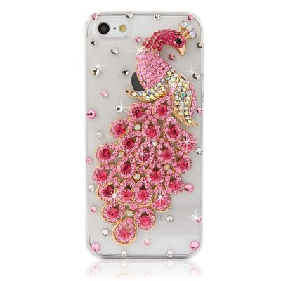 Iphone 5/5s - sparkling jewel peacock bling crystal case in assorted colors