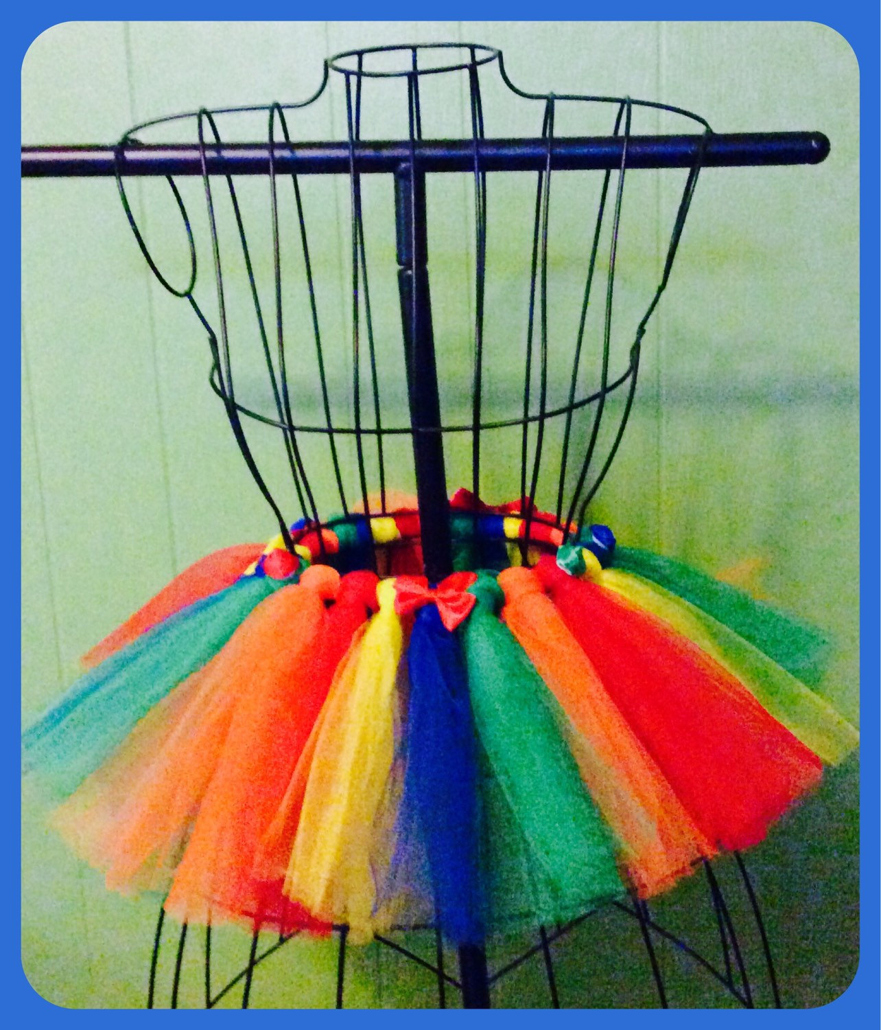 Primary Colors Red Yellow Blue Green Tulle Tutu 5/6 Girls Satin Bows ...
