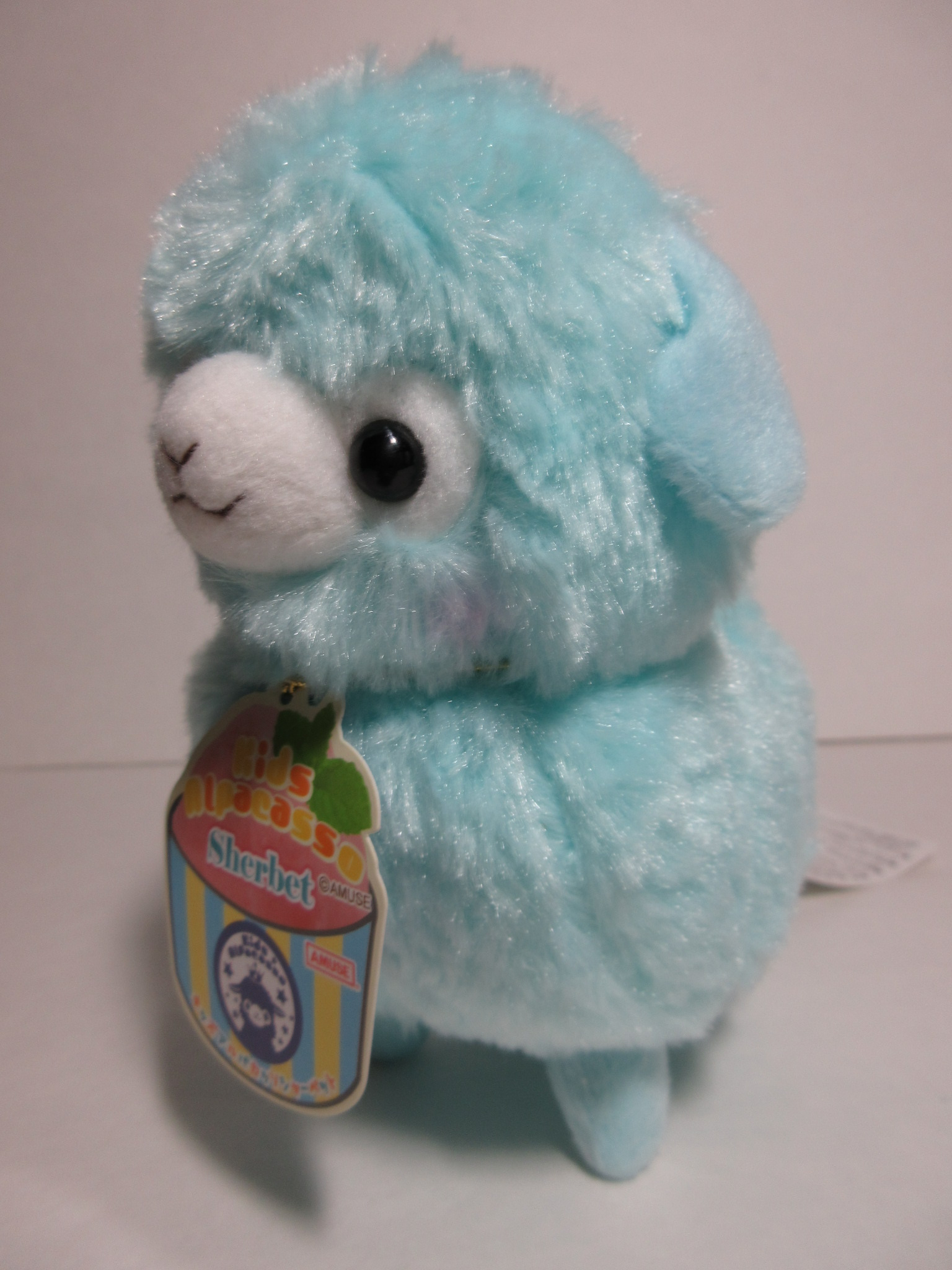 """Sherbet"" Kids Alpacasso Soda Blue Alpaca 16cm Plush Amuse ..."