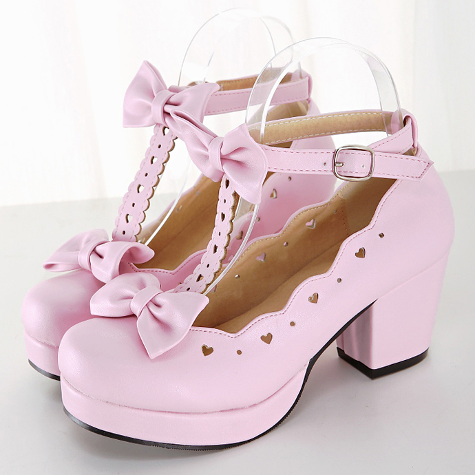 japanese lace bow princess shoes 183 kawaii