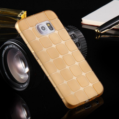 Galaxy s6 edge - ultra-thin and elegant rounded grid case in assorted colors