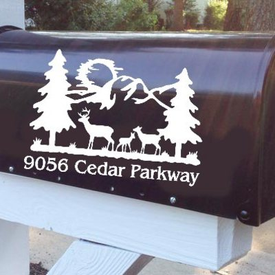 Deer family vinyl mailbox decal · stickie situations · online store powered by storenvy