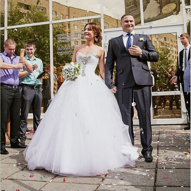 Sweetheart Ball Gown Wedding Dresses,Back Up Lace Wedding Gowns ...