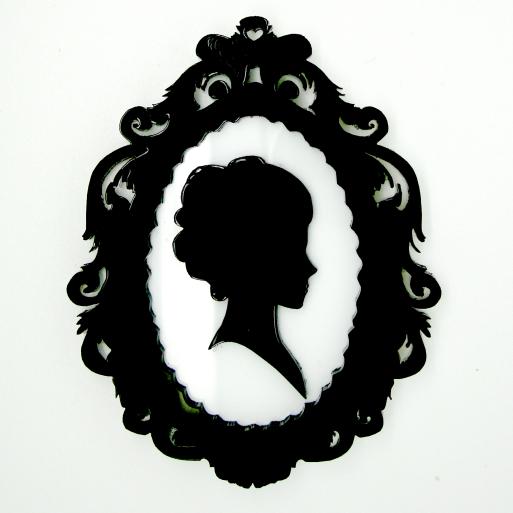 Victorian Silhouette Cameo Woman | www.pixshark.com ...