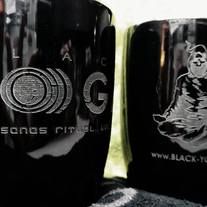 Mugs: BLACK YO)))GA Logo (Laser-Etched) - LIMITED EDITION medium photo