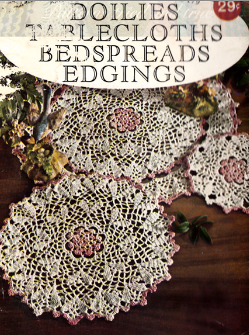 Diy Crochet Book Cover ~ Crochet pattern book diy doilies tablecloths pages of