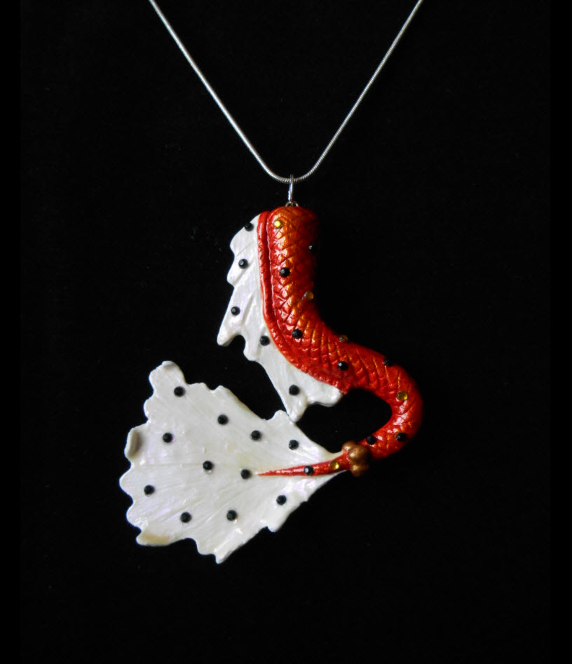 pointe collections library of koi fish necklace virtual pendant sandi