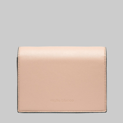 Corrine metal bar flap shoulder bag (blush) by melie bianco